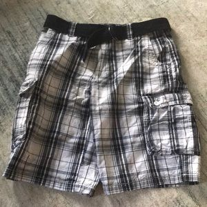 ✨Men's Plaid Cargo Shorts